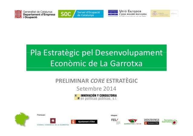 Pla Estratègic pel DesenvolupamentPlaEstratègicpelDesenvolupament EconòmicdeLaGarrotxa PRELIMINARCOREESTRATÈGIC...