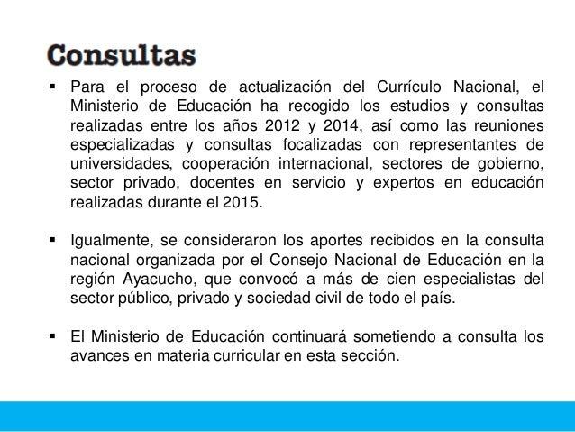 Perfil de egreso y fundamentos del Currículo Nacional:  El Currículo es un instrumento de política que define qué y cómo ...