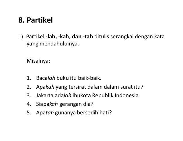2. Penulisan Kata
