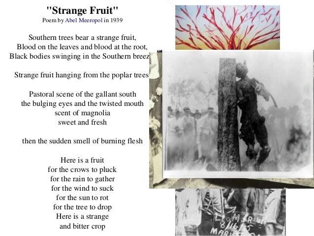 Strange fruit abel meeropol essay