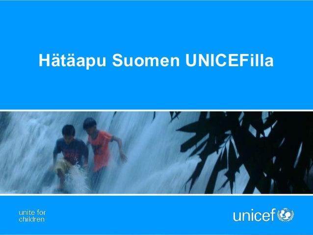 Hätäapu Suomen UNICEFilla