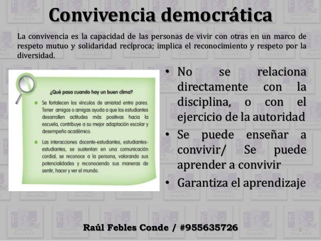 2.2 convivencia democrática y clima del aula Slide 2