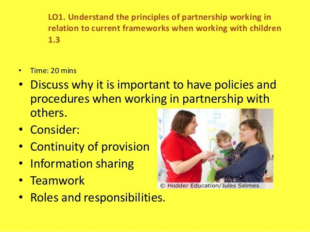 4.4 evaluate procedures for working with others