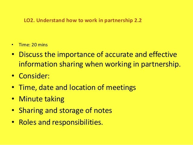 understanding partnership working in service with Writing guide for a memorandum of understanding its locally driven philosophy and its practical experience in working with as well as the public service.