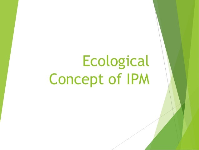 Ecological Concept of IPM