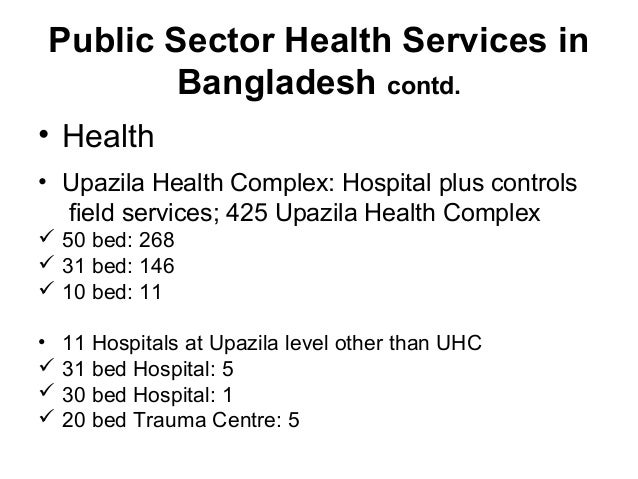 Private sector health services in bangladesh
