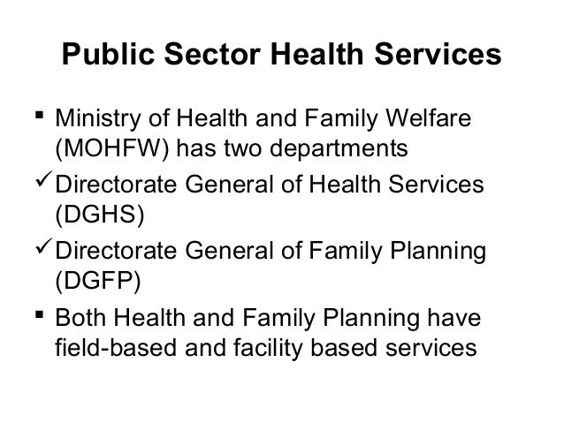 Private Sector Health Services in Bangladesh Essay