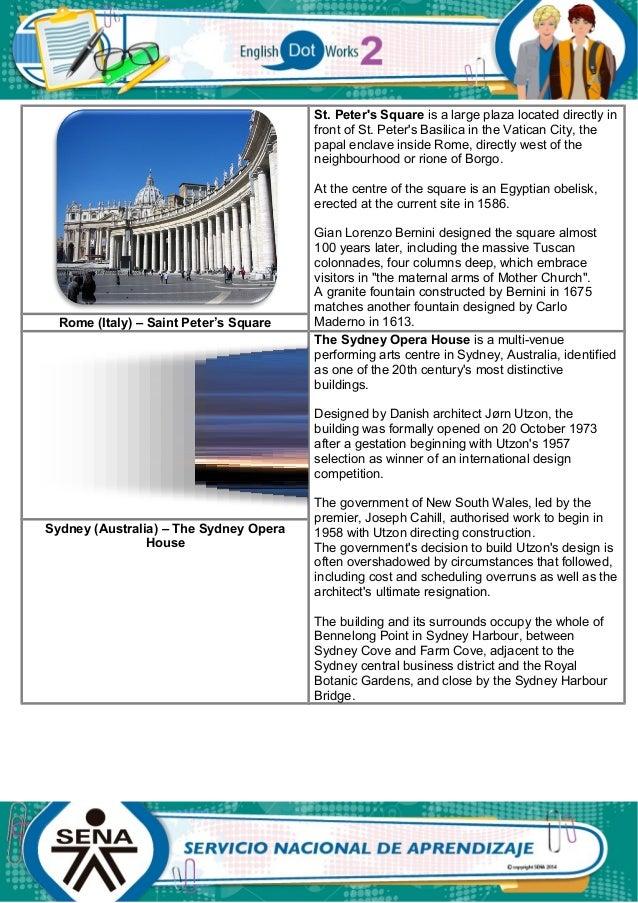 2. describing cities and places. ENGLISH DOT WORKS 2. SENA. semana 4 acitivdad 2. Slide 2