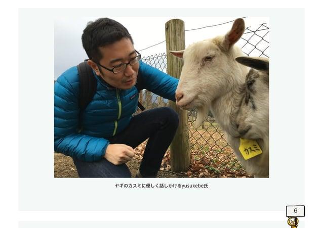 6 ヤギのカスミに優しく話しかけるyusukebe氏