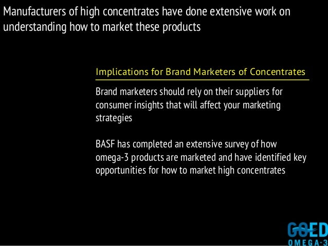 Manufacturers of high concentrates have done extensive work on understanding how to market these products Implications for...