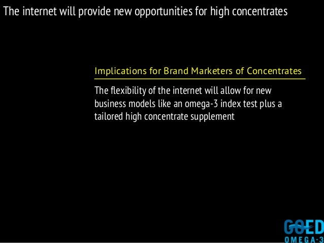 The internet will provide new opportunities for high concentrates Implications for Brand Marketers of Concentrates The fle...