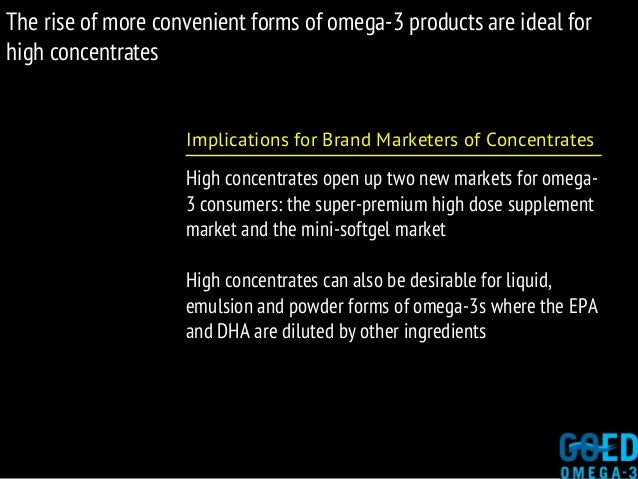 The rise of more convenient forms of omega-3 products are ideal for high concentrates Implications for Brand Marketers of ...