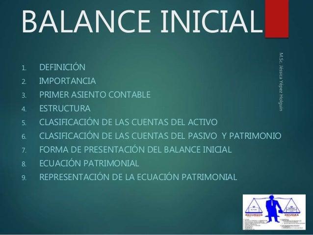 Balance Inicial Contabilidad