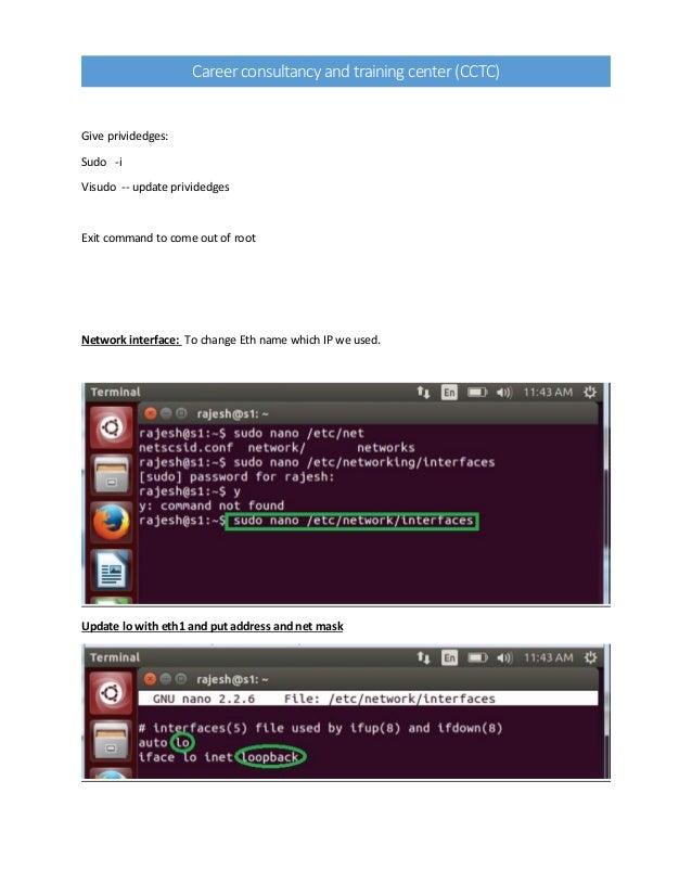 Configure ubuntu after installation