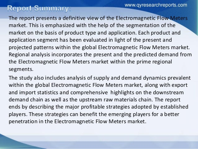 Latest Report Examines Factors Driving Global Electromagnetic Flow Meters Industry from 2016 to 2021 Slide 3