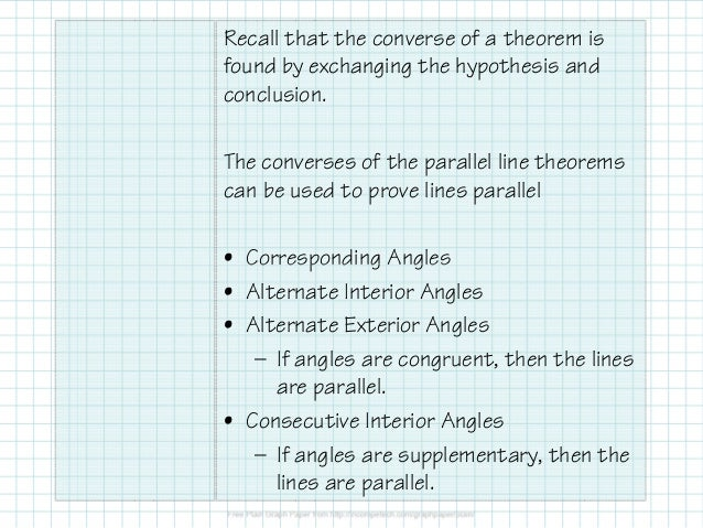 2 4 2 proving lines parallel - Alternate exterior angles converse ...
