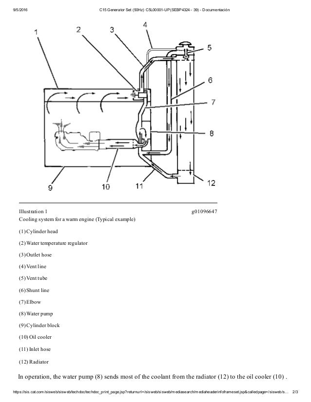 2 c15 cooling system 3126e cat engine c 15 cat engine cooling diagram #22