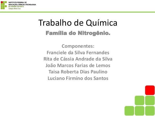 Top Familia do Nitrogênio NT16
