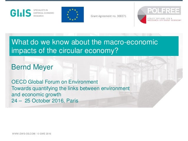 Münster, Mai 2015WWW.GWS-OS.COM / © GWS 2016 What do we know about the macro-economic impacts of the circular economy? Ber...