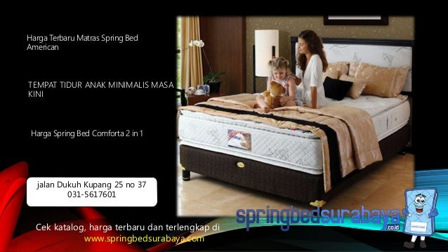 TEMPAT TIDUR ANAK MINIMALIS MASA KINI Harga Terbaru Matras Spring Bed