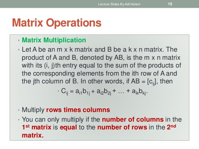 Matrices In Discrete Mathematics And Its Applications