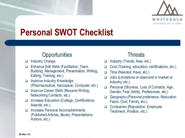 2  personal swot analysis