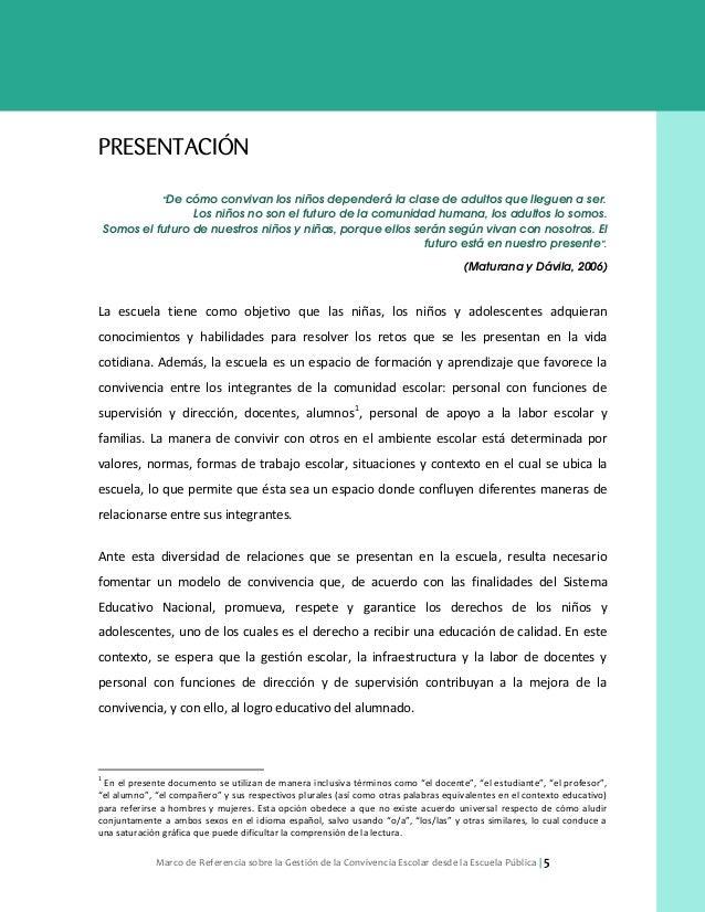 2.7.4 marco de referencia sobre la gestion de la convivencia escolar