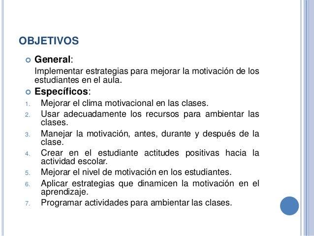2 Estrategias Motivacionales En El Aula De Clases