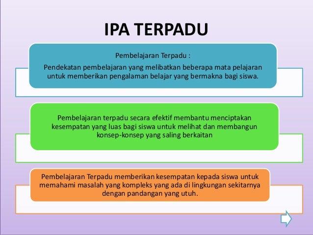 Pengembangan Bahan Ajar IPA Terpadu tipe Integrated dan ...
