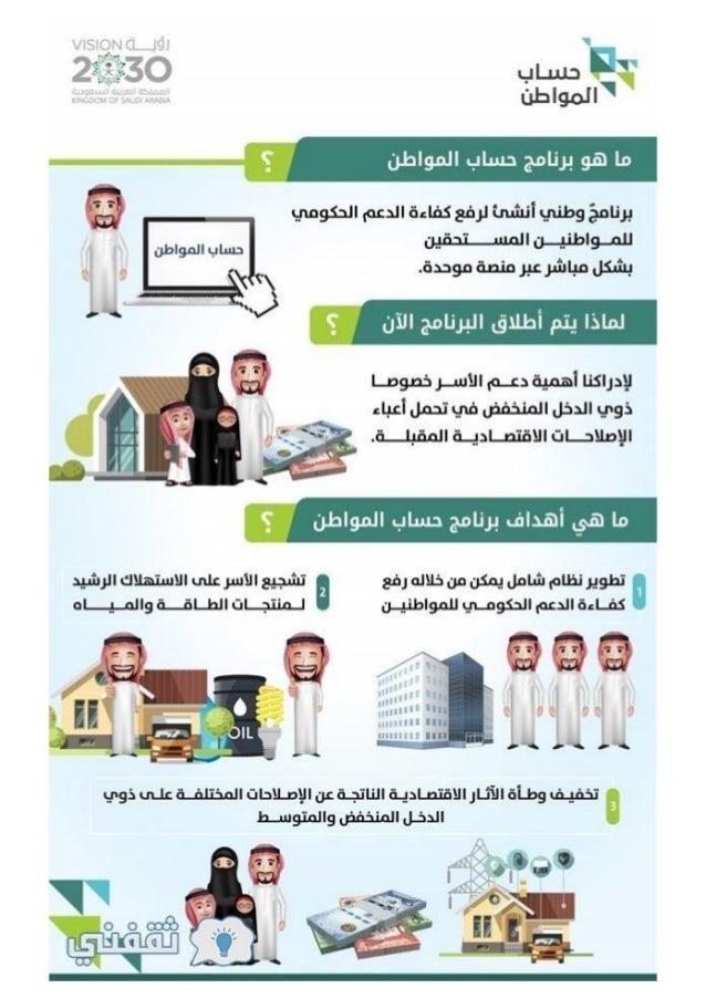 حساب المواطن الموحد السعودي و الدعم الحكومي للمواطنين ذو الدخل المحدود طريقة التسجيل في حساب المواطن (2