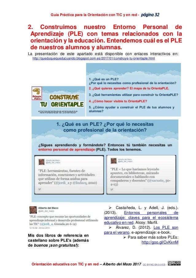 Guía Práctica para la Orientación con TIC y en red - página 32 Orientación educativa con TIC y en red – Alberto del Mazo 2...