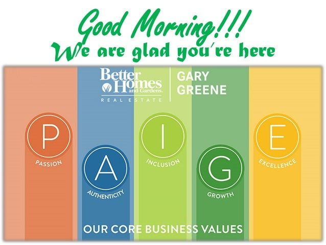 Good Morning!!! We are glad you're here