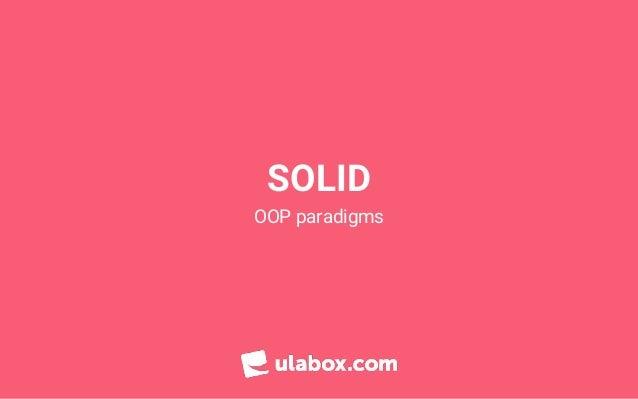 SOLID OOP paradigms