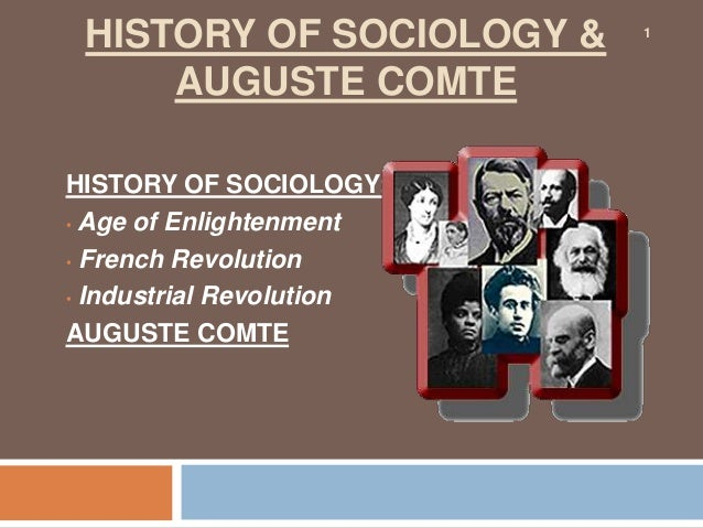 a history of sociology View academics in history of sociology on academiaedu.