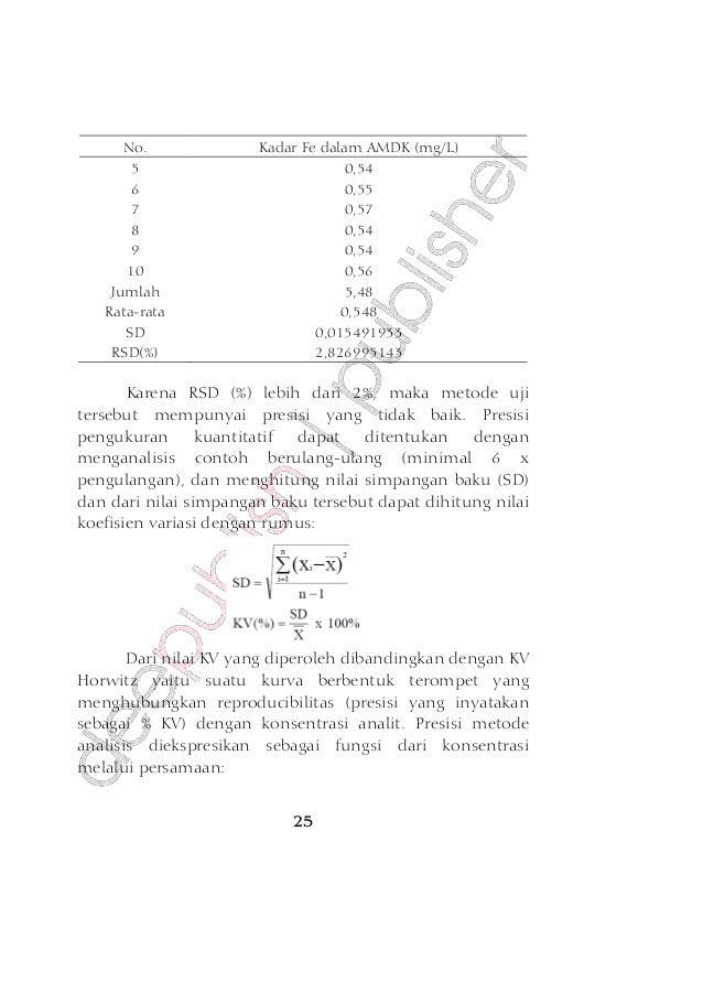 Validasi Metode Analisa (VMA) | Bambang Priyambodo's Weblog