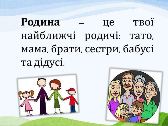 Основи здоров'я Тренінг 2. Дружна родина. Клас 2