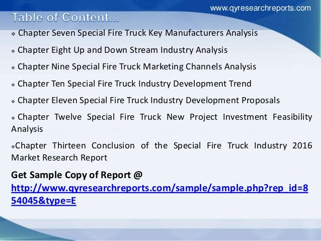 Special Fire Truck Market - Global Industry Analysis, Size