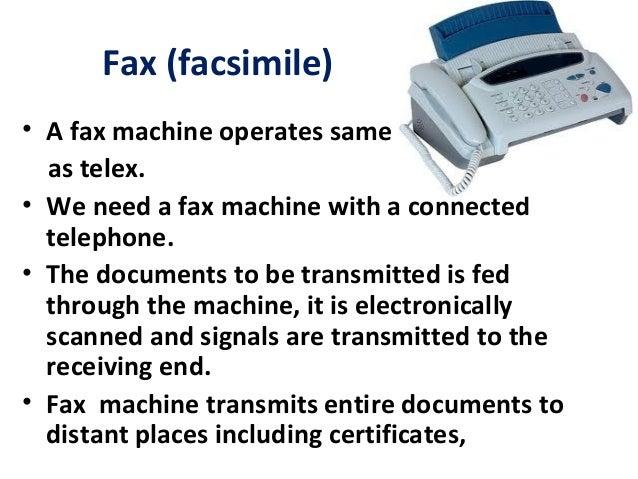 19. Fax (facsimile) ...