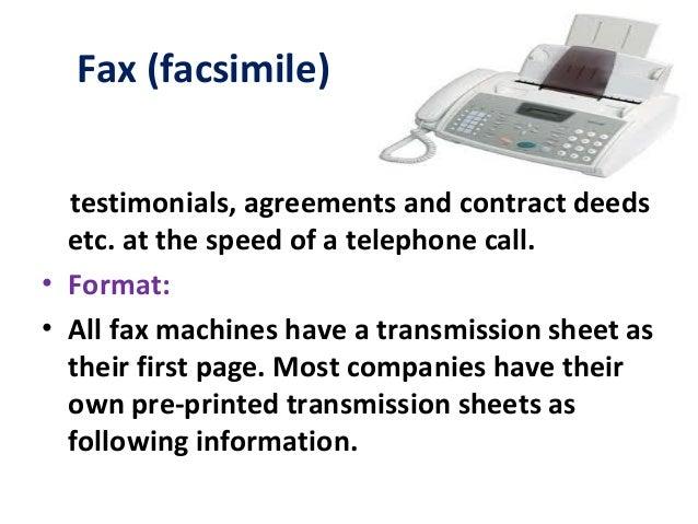 ... 20. Fax (facsimile) Testimonials ...
