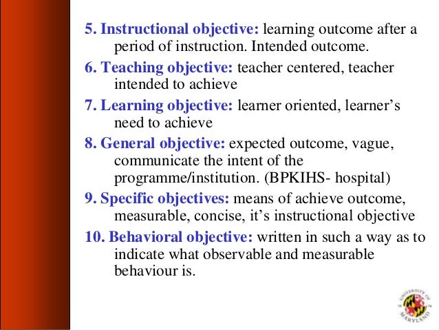 objective of teacher