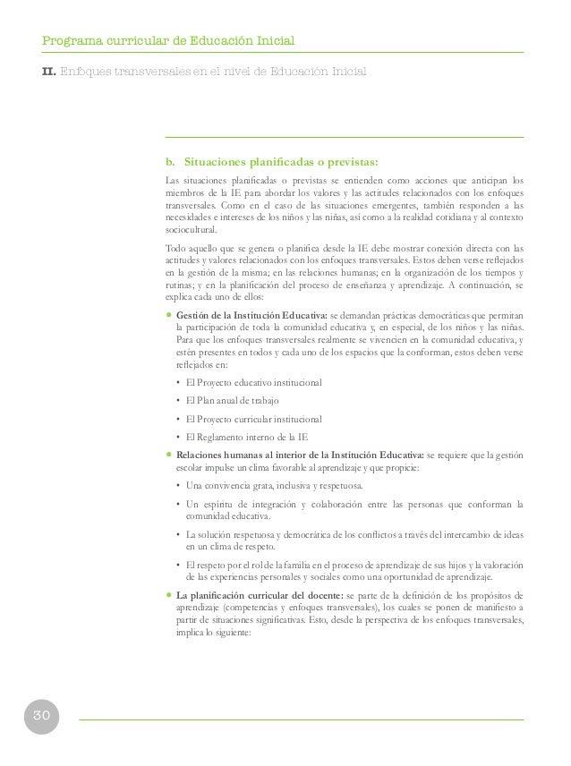 Currículo Nacional: Programa de inicial