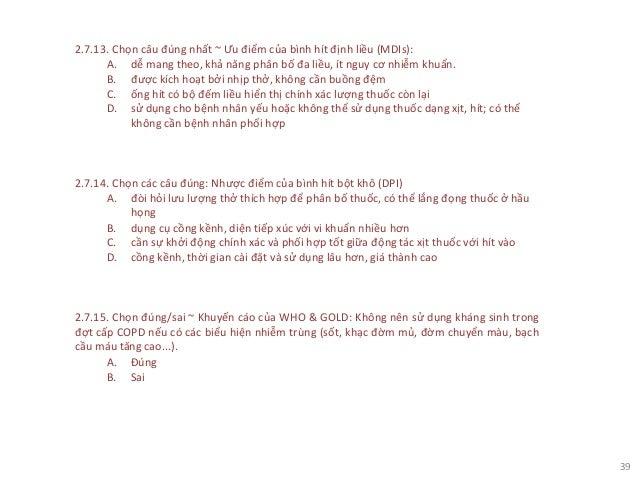 CÁC BỆNH HÔ HẤP & THUỐC
