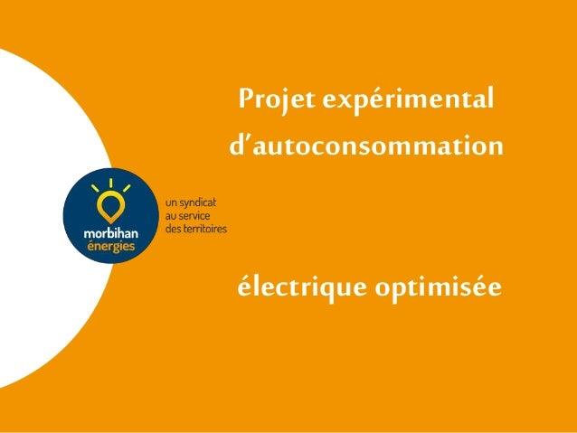 Projet expérimental d'autoconsommation électrique optimisée