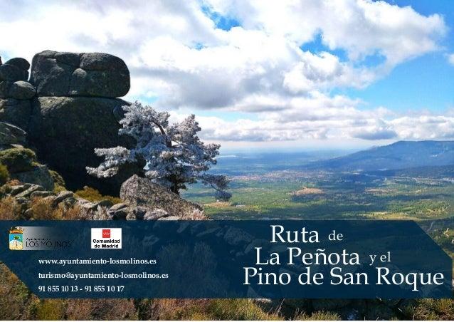 Ruta de La Peñota y el Pino de San Roque www.ayuntamiento-losmolinos.es turismo@ayuntamiento-losmolinos.es 91 855 10 13 - ...