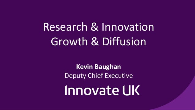 Research & Innovation Growth & Diffusion Kevin Baughan Deputy Chief Executive
