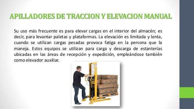 Resultado de imagen para equipos manuales de manejo de materiales