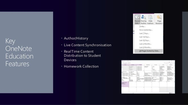 Features Not Directly in OneNote ...