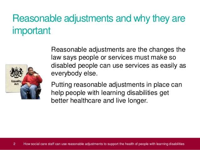 Social Care Staff  Reasonable Adjustments