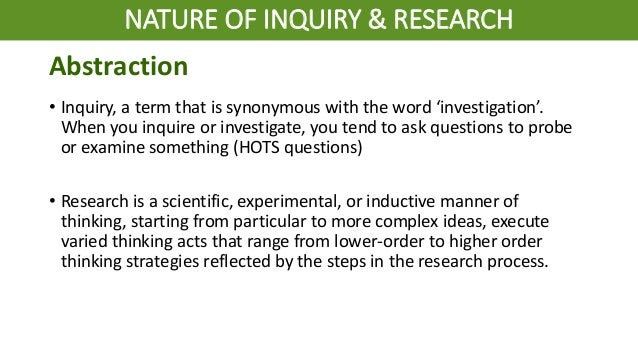 2. practical research ii nature of inquiry & research