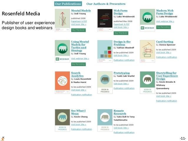 -11- Rosenfeld Media Publisher of user experience design books and webinars